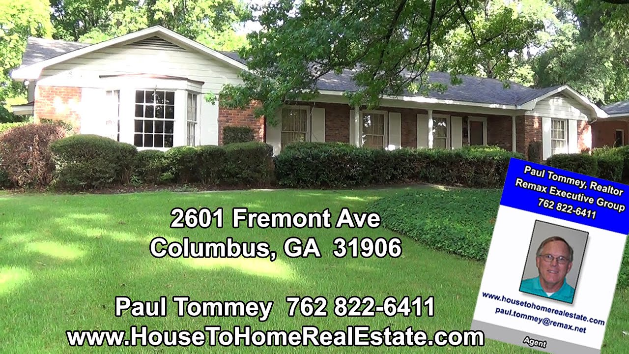 2601 fremont ave columbus ga homes for sale in north for Home builders in columbus ga