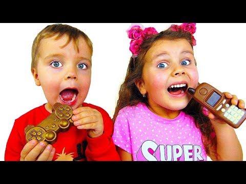 Милана и папа - история для детей про вредный шоколад