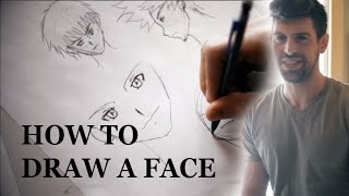 How to Draw a Face for Beginners Step by Step Easy - Anime
