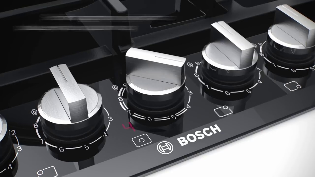 Plyty Gazowe Bosch Z Technologia Flameselect Youtube