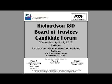 Richardson ISD Board of Trustees Candidate Forum