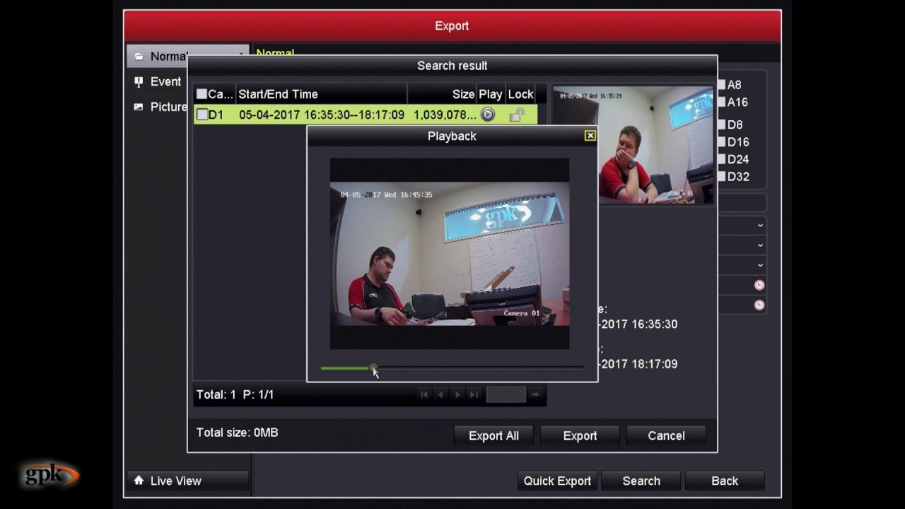 How to: Export footage directly from a Hikvision DVR
