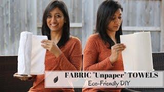 DIY Fabric Paper Towels - No Sew | Eco-Friendly