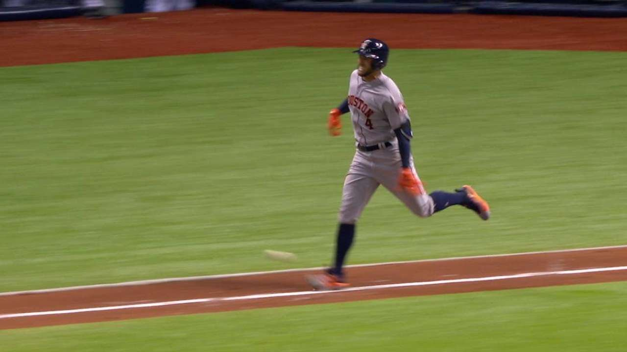 Astros' George Springer Exits vs. Red Sox After Suffering Hamstring Injury