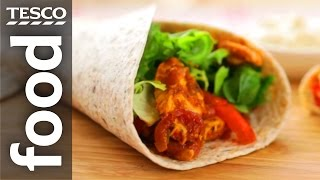 How to Wrap a Torтilla in Seconds | Tesco Food