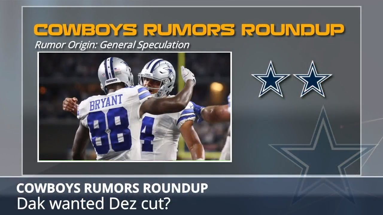 255004bb9 Cowboys Rumors: Dak Prescott Wanted Dez Bryant Cut, Bryant To Redskins, And  Jerry Jones Questioned