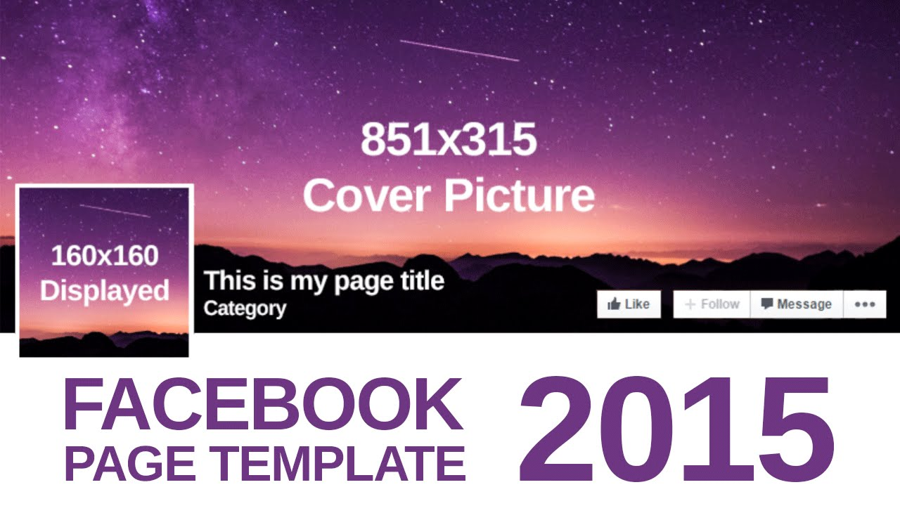 Advanced facebook page template 2015 free psd download youtube flashek Gallery