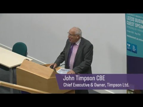 FBL guest lecture - Upside Down Management - John Timpson
