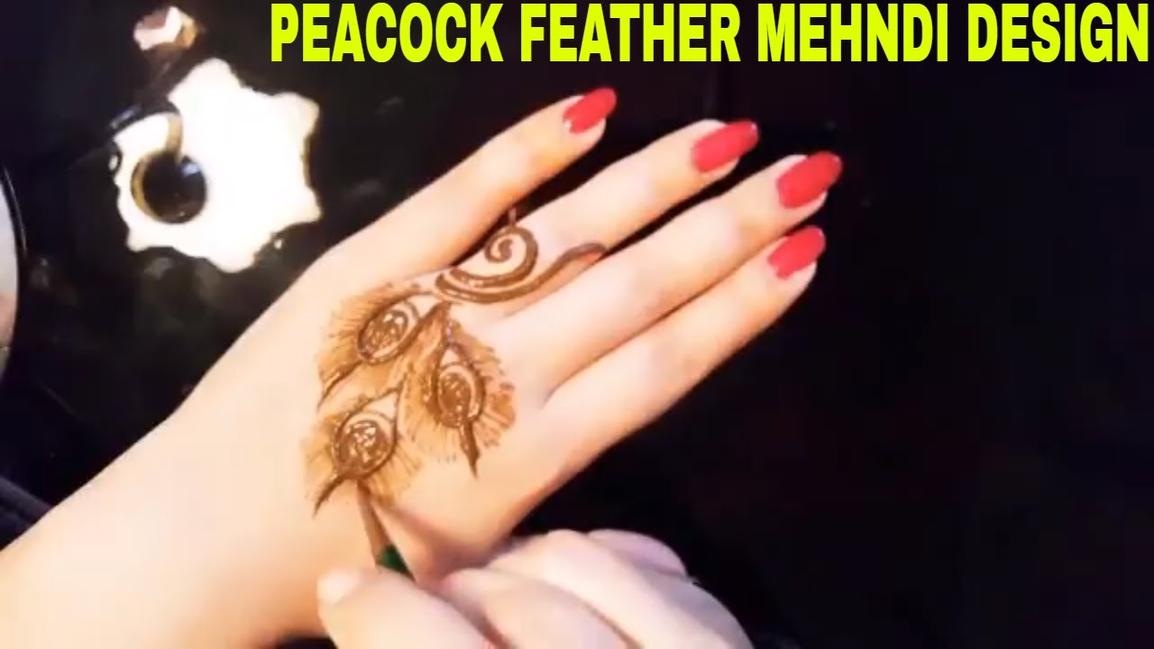 Beautiful Peacock Feather Mehndi Design Simple And Easy Peacock