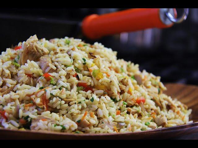 Turkey Fried Rice  #TastyTuesdays | CaribbeanPot.com