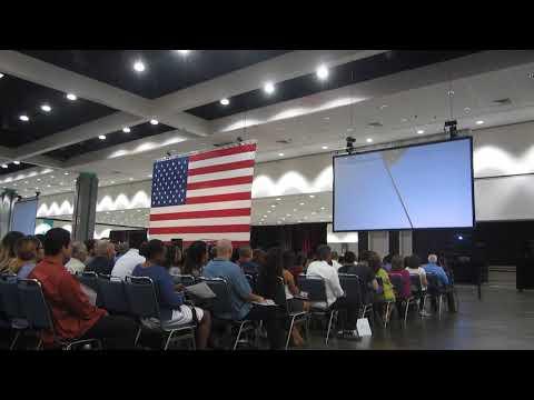 Citizenship Ceremony Los Angeles Convention Center. 10/17/17