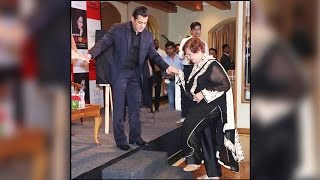 Salman Khan's Helping Hand To Step Mom HELEN At Asha Parekh's Book Launch