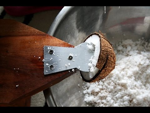 Extracting Coconut Milk - How to Make Coconut Milk in the Philippines