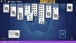 Daily Challenges Microsoft Solitaire Collection august, 2018 Spider Medium Solution day 19
