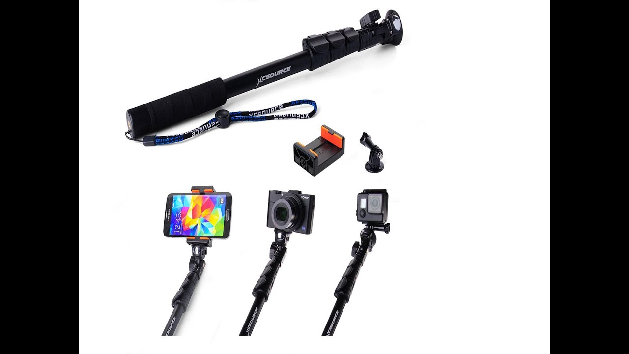 xcsource professional adjustable telescopic selfie stick dc548 review youtube. Black Bedroom Furniture Sets. Home Design Ideas