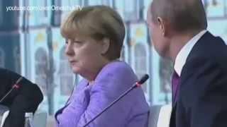Реакция Меркель на юмор Путина | Merkel's reaction on Putin's humor
