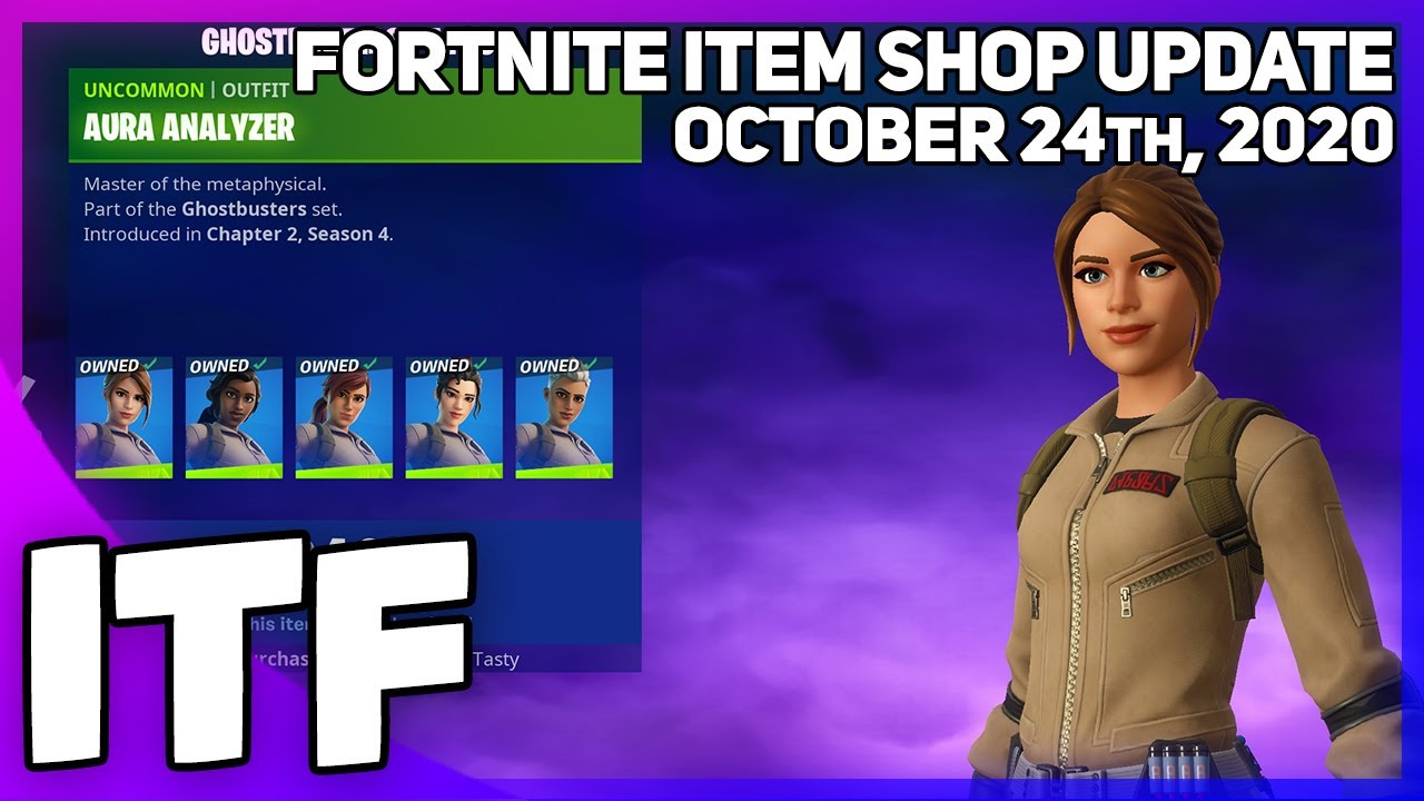 Fortnite Item Shop *NEW* THREE GHOSTBUSTERS PACKS! [October 24th, 2020] (Fortnite Battle Royale)