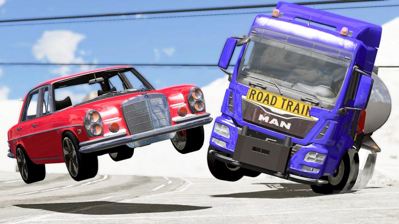 Will these Cars still Drive after Crashing? 123 - BeamNG Drive | #CRASHdriven