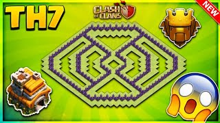 BRAND NEW 'CRAZY' TOWN HALL 7 (TH7) TROPHY BASE DESIGN 2018/PUSHING BASE-Clash Of Clans