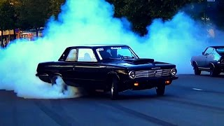 MOPAR BEAST! '65 Valiant Massive Burnouts & Drag Racing