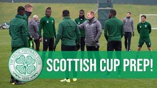 TRAINING: Celtic manager Neil Lennon prepares the Bhoys for Hibs!