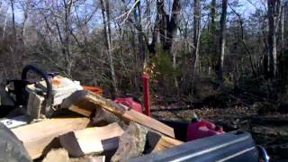 Cutting And Splitting Firewood Part 3