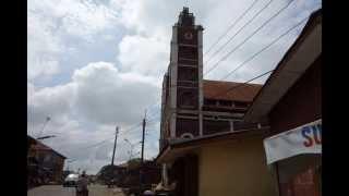 アフリカ ナイジェリア ラゴス郊外の風景