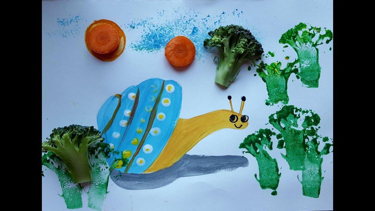 Рисуем улитку || Как нарисовать улитку для детей!