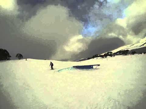 Falls Creek 2013 - Drovers Terrain Park Snowboarding Compilation