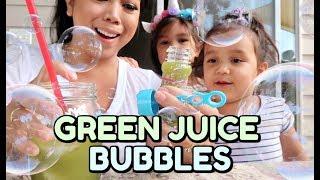 EDIBLE GREEN JUICE BUBBLES! -  ItsJudysLife Vlogs