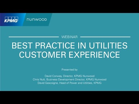 WEBINAR: Best Practice in Utilities Customer Experience