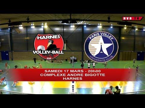 Harnes VB - Paris UC (samedi 17 Mars 2018 - 20h00)