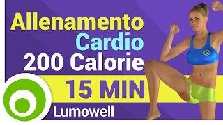 Cardio Workout di 15 Minuti - 200 Calorie Bruciate