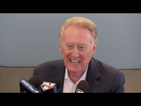 Vin Scully Q&A at Dodgers spring training