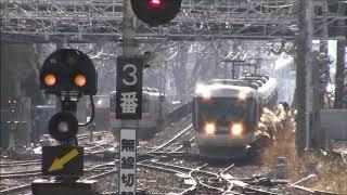 383系特急ワイドビューしなの号 松本駅到着