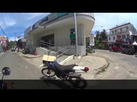 Driving in Larena, Siquijor Island, Philippines
