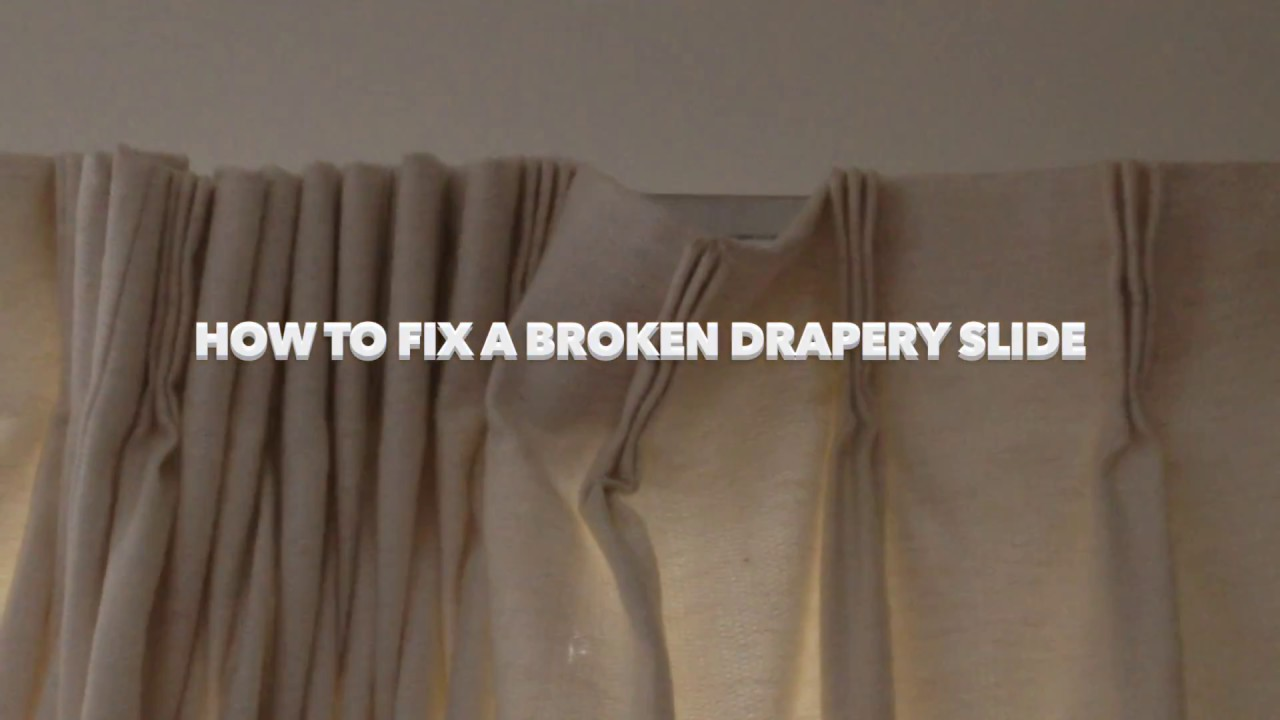 fixing a broken drapery slide youtube