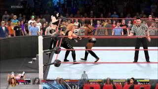 WWE 2K15 6 divas tag match