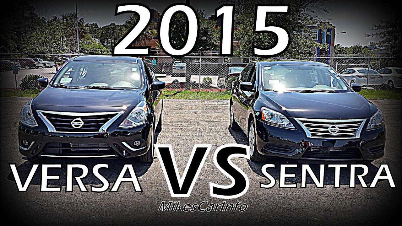 Nissan Versa Vs Sentra Detailed Comparison