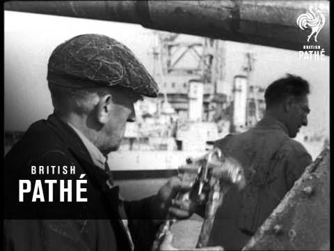 Cocooning Fleet At Chatham (1948)