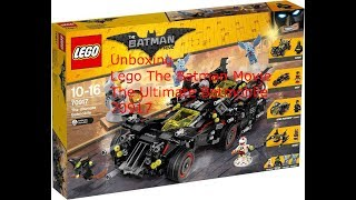Unboxing Lego The Batman Movie The Ultimate Batmobile 70917