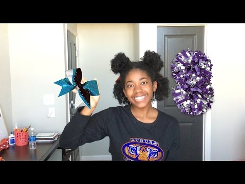 Cheerleading Quick And Easy Natural Hairstyle Youtube