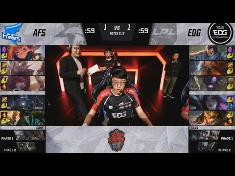 AFS (Kiin Gangplank) VS EDG (Ray Jarvan) Highlights - 2018 Rift Rivals Finals
