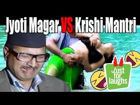 Jyoti Magar vs Krishi Mantri || Nepali Funny Video