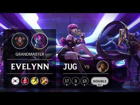 Evelynn Jungle vs Jarvan IV - KR Grandmaster Patch 9.8