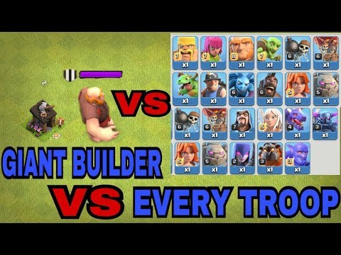 Thumbnail: NEW EVENT GIANT BUILDER HUT AGAINST EVERY TROOP IN COC | GIANT BUILDER VS EVERY TROOP (MUST WATCH)