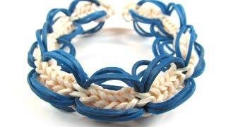 Плетение из резинок на монстр тэйле | Радужки Rainbow Loom | how to make bracelet on Monstertail