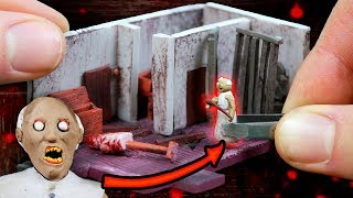 Making GRANNYS Attic Miniature House in POLYMER CLAY