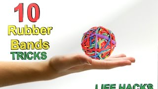 10 simple life hacks with rubber bands diy awesome inventions hacks de vie avec des bandes de caou