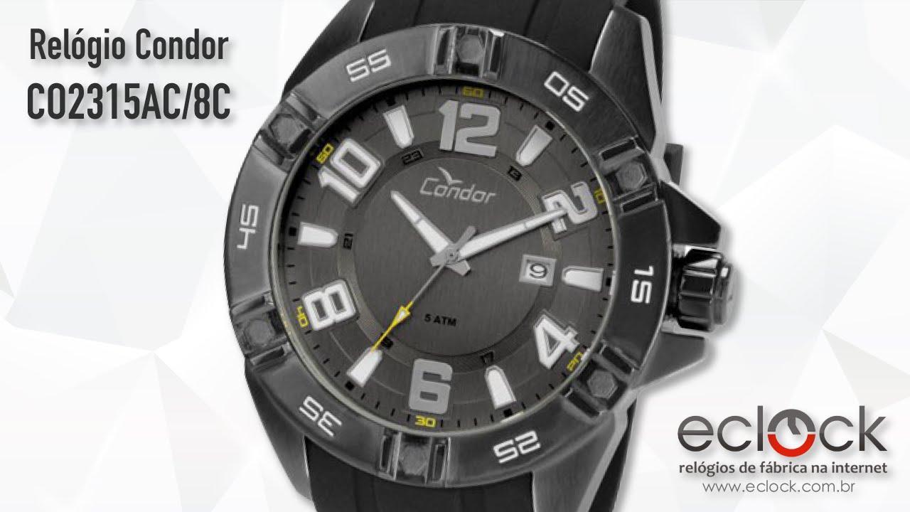 02167600f29 Relógio Condor Masculino CO2315AC 8C - Eclock by Eclock Relógios